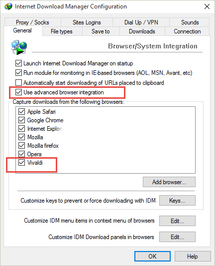 Use Internet Download Manager (IDM) With Vivaldi Browser
