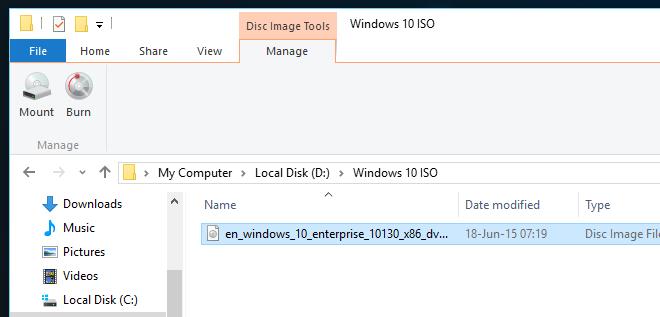 Windows-10-ISO-mount