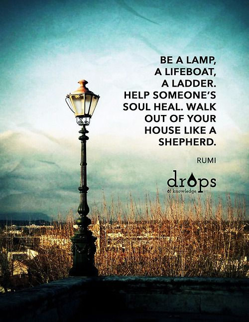 Charmant Be A Lamp A Lifeboat. U201c